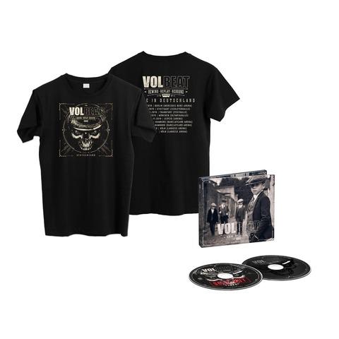Rewind, Replay, Rebound: Live In Deutschland - Best Of (Ltd. 2CD + Shirt) von Volbeat - CD Bundle jetzt im Volbeat Shop
