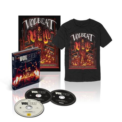√Let's Boogie! Live (CD/BluRay/T-Shirt/Poster Bundle) von Volbeat - CD jetzt im Volbeat Shop