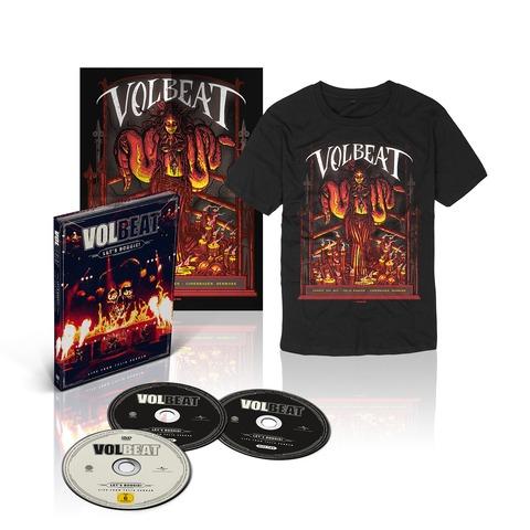 √Let's Boogie! Live (CD/DVD/T-Shirt/Poster Bundle) von Volbeat - CD jetzt im Volbeat Shop