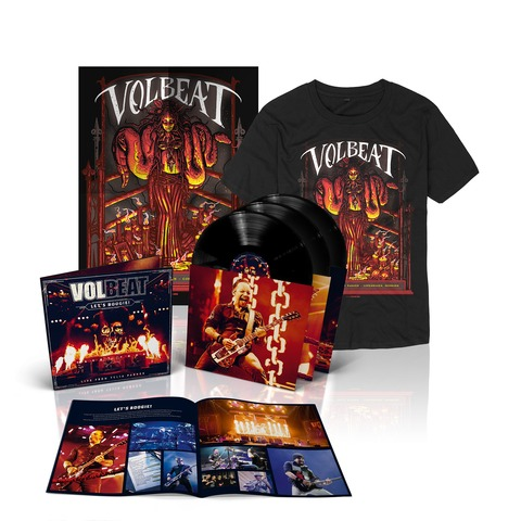 √Let's Boogie! Live (Vinyl/T-Shirt/Poster Bundle) von Volbeat - LP jetzt im Volbeat Shop