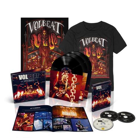 √Let's Boogie! Live (Vinyl/CD/DVD/T-Shirt/Poster Bundle) von Volbeat - LP jetzt im Volbeat Shop
