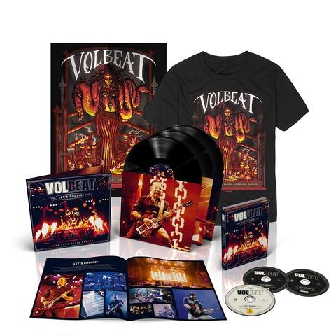 √Let's Boogie! Live (Vinyl/CD/BluRay/T-Shirt/Poster Bundle) von Volbeat - LP jetzt im Volbeat Shop