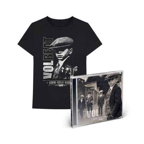 √Rewind, Replay, Rebound (CD + T-Shirt Bundle, Größe L) von Volbeat - CD Bundle jetzt im Volbeat Shop