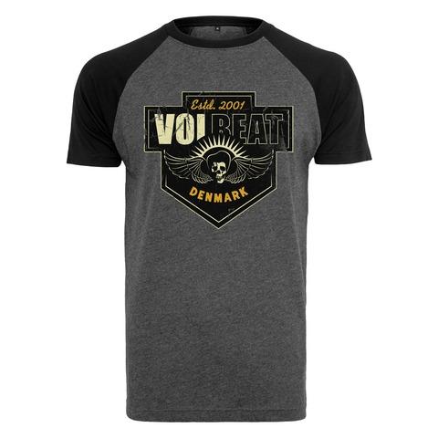 √Cross Crest Raglan von Volbeat - T-Shirt Raglan jetzt im Volbeat Shop