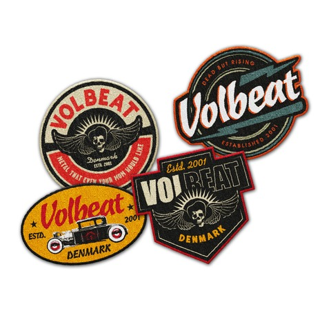 √Logo Patch Set von Volbeat - patches set jetzt im Volbeat Shop