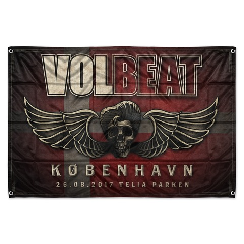 √Copenhagen Event Flag von Volbeat - Flag jetzt im Volbeat Shop