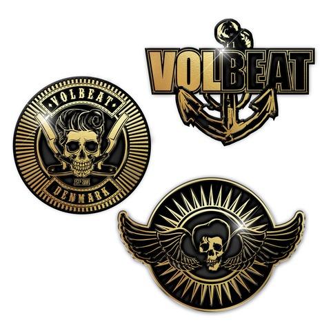 √Anchor And Skulls von Volbeat - 3er Pin Set jetzt im Volbeat Shop