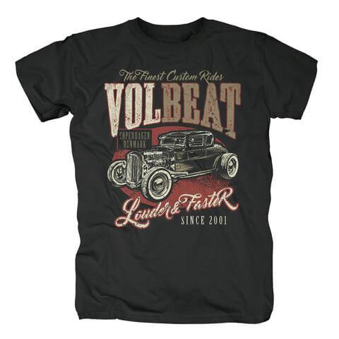 √Louder & Faster von Volbeat - T-Shirt jetzt im Volbeat Shop