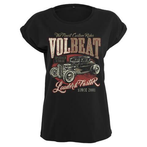 √Louder & Faster von Volbeat - Girlie Shirt jetzt im Volbeat Shop