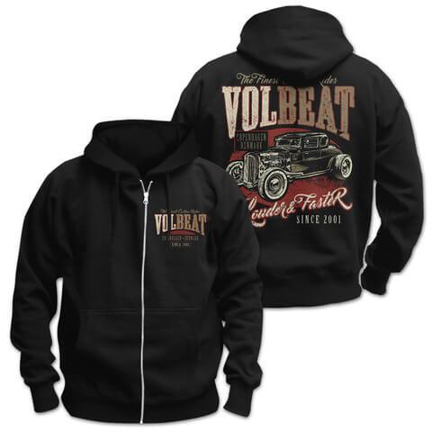 √Louder & Faster von Volbeat - Hooded jacket jetzt im Volbeat Shop