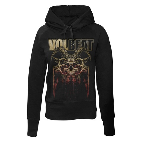 √Bleeding Crown Skull von Volbeat - Girlie hooded sweater jetzt im Volbeat Shop