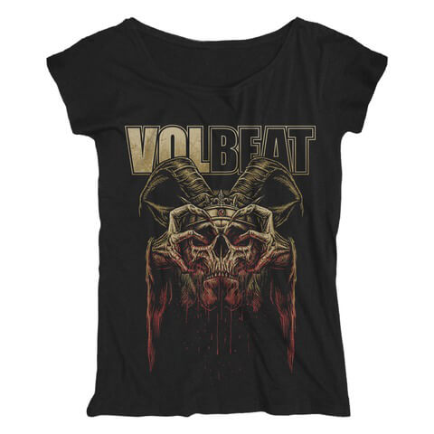 √Bleeding Crown Skull von Volbeat - Girlie Shirt Loose Fit jetzt im Volbeat Shop