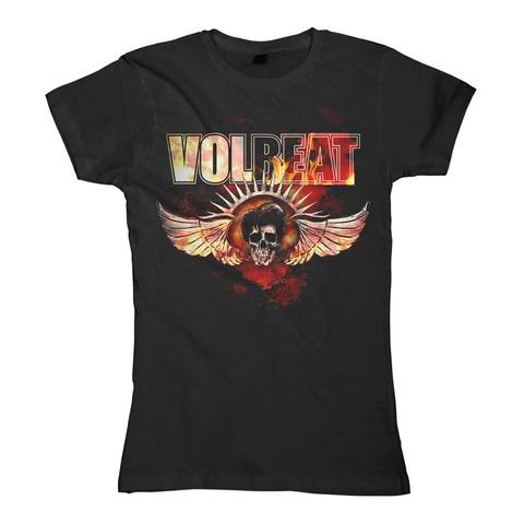 √Burning Skullwing von Volbeat - Girlie Shirt jetzt im Volbeat Shop