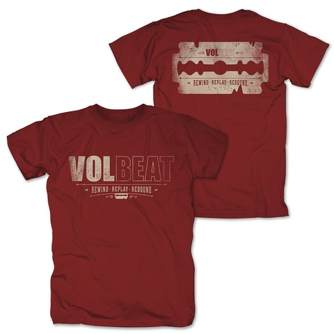 √Distressed Logo - red von Volbeat - T-Shirt jetzt im Volbeat Shop