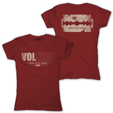 √Distressed Logo - red von Volbeat - Girlie Shirt jetzt im Volbeat Shop