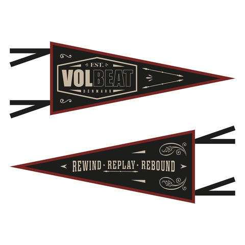 √Rewind Replay Rebound von Volbeat - Wimpel jetzt im Volbeat Shop