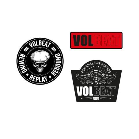 √Rewind Replay Rebound von Volbeat - 3er Aufnäher Set jetzt im Volbeat Shop