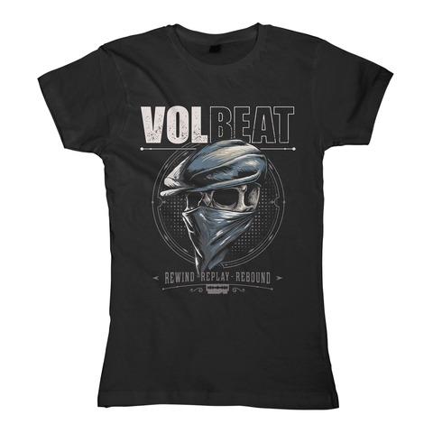 Bandana Skull von Volbeat - Girlie Shirt jetzt im Volbeat Shop